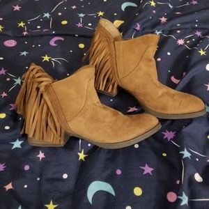 Faded Glory Shoes - Super cute suede fringe ankle boots